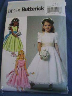 Butterick Pattern BP248 Children's/Girl's Dress and Cummerbund Size CL (6 7 8)