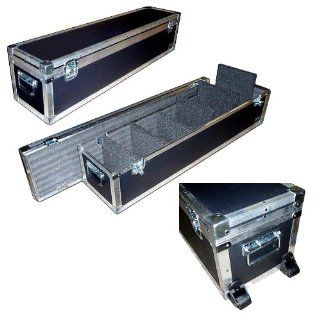 "Lighting PAR   LED ATA 1/4"" Medium Duty Road Case w/6 Removeable Dividers & Dolly Wheels   Inside Dimensions 52"" x 12"" x 12"" High: Musical Instruments"