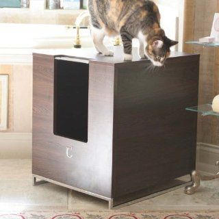 Modern Cat Designs Litter Box Hider   Brown: Pet Supplies