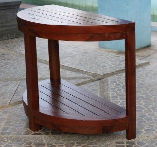 Classic Spa Half Moon Teak Shower Bench: Home Improvement