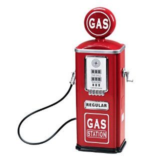 Steel Gas Pump with crank that makes noise: Toys & Games