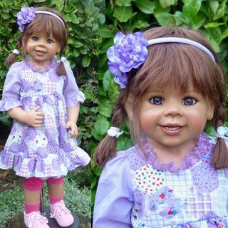 "Masterpiece Dolls Daddy's Little Girl By Monika Levenig, 34"" Full Vinyl Ball jointed Doll Toys & Games"