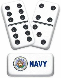 Professional Size Double 6 United States Navy Dominoes Toys & Games