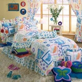 Flower Power Complete Bed Comforter Set Size Full   Multi Colored Comforter
