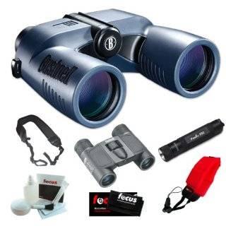 Bushnell 137570 Marine Blue Porro 7x50mm with Digital Compass Binocular + Fenix E01 Compact Keychain LED Flashlight in Black + Accessory Kit Camera & Photo