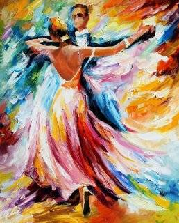 Waltz   Pallete Knife Original Recreation Oil Painting On Canavs By Leonid Afremov