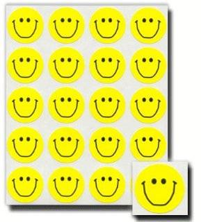 Pioneer Plus Stickers, Smiley Face, Classic Acid Free, Yellow  20 Stickers Per Page, 4 Pages, 80 Stickers in All  Perfect for Scrapbooking and Card Making  Great for Primary Children and LDS Families  Primary, Young Women, Young Men, Relief Society, Preist