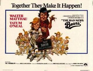 The Bad News Bears Movie Poster (11 x 14 Inches   28cm x 36cm) (1976) Style A  (Walter Matthau)(Tatum O'Neal)(Vic Morrow)(Joyce Van Patten)(Jackie Earle Haley)(Chris Barnes)   Prints