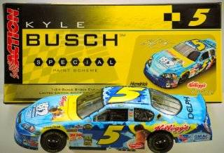 Action   NASCAR   Kyle Busch #5   2006 Chevrolet Monte Carlo   Kellogg's / Ice Age 2 Special Paint   1 of 288   Rare   Out of Production   124 Scale Die Cast Stock Car   Limited Edition   Collectible Toys & Games
