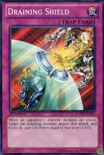 Yu Gi Oh!   Draining Shield (LCYW EN294)   Legendary Collection 3: Yugi's World   Limited Edition   Common: Toys & Games
