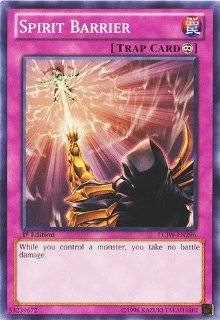 Yu Gi Oh!   Spirit Barrier (LCJW EN296)   Legendary Collection 4: Joey's World   1st Edition   Common: Toys & Games