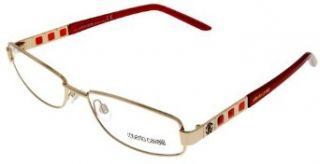 Roberto Cavalli Prescription Eyewear Frame Womens RC0361 298 Gold Red Clothing