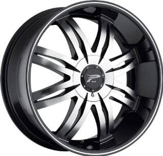 PLATINUM   type 298/299 diamonte   22 Inch Rim x 8.5   (5x115/5x4.75) Offset (43) Wheel Finish   diamond cut with black: Automotive