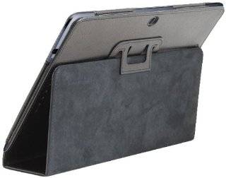 GreatShield TOME Series Protective Leather Case Cover with Stand for ASUS MeMo Pad Smart 10.1 / ME301T   Black Computers & Accessories