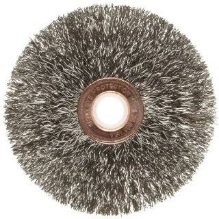 Weiler Copper Center Wire Wheel Brush, Round Hole, Stainless Steel 302, Crimped Wire: Abrasive Wheel Brushes: Industrial & Scientific