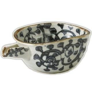 Japanese Ceramic Bowl 5.0 octopus arabesque one side of the story [18.3cm x 11.3cm x 7.2cm] kgr028 103 307: Kitchen & Dining