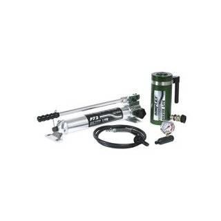 "Simplex Aluminum Hydraulic Set 30 Ton 6"" Center Hole Cylinder & Hand Pump STL306HC"