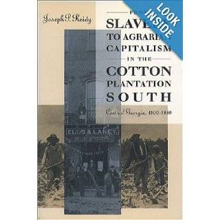 From Slavery to Agrarian Capitalism in the Cotton Plantation South: Central Georgia, 1800 1880 (Fred W. Morrison Series in Southern Studies): Joseph P. Reidy: 9780807820612: Books