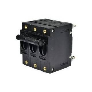 TE Connectivity W93 X112 30 Circuit Breaker; Hyd/Mag; Togl; Cur Rtg 30A; Panel; 3 Pole; Vol Rtg 277VAC; Stud Snap: Industrial & Scientific