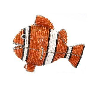 Grass Roots Creations Clown Fish Beadworx Sculpture, Orange