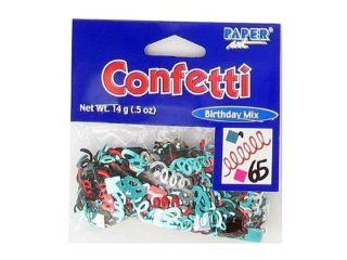 New   65th birthday confetti   Case of 108   KH713 108: Toys & Games