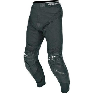 Alpinestars A 10 Leather/Textile Pants , Distinct Name Black, Size 44, Gender Mens/Unisex, Primary Color Black, Apparel Material Leather XF2821 0182 Automotive