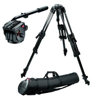 Manfrotto Pro Video Kit with 351MVCF Carbon Fiber Tripod Legs, 503HDV Pro Fluid Head, 75mm Half Ball, Spreader, Shoes and MBAG90P Padded Case  Camera & Photo