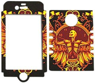 Cell Armor IPHONE4G RSNAP TE366 Rocker Snap On Case for iPhone 4/4S   Retail Packaging   Skeleton with Wings on Black: Cell Phones & Accessories