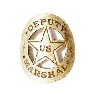 Curved US Deputy Marshal badge   Costume Accessories