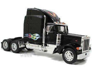Jada Toys RoadRigz   Peterbilt 379 Model Tractor Trailer (1:32, Black): Toys & Games