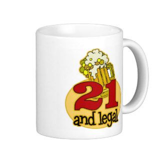 Funny 21st Birthday Gift Mugs