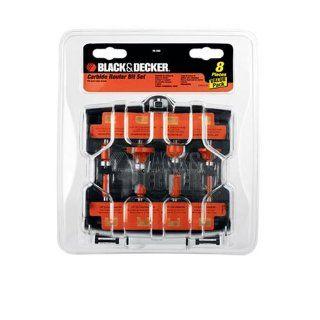 Black & Decker 76 382 8 Piece Carbide Router Bit Set