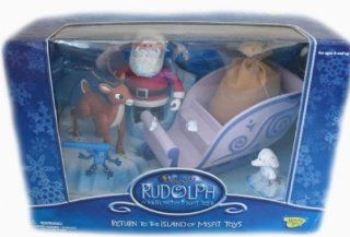 Rudolph the Island of Misfit Toys Santa's Sleigh Figure Set: Toys & Games