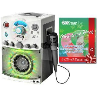 Singing Machine SML 385W Karaoke Machine With Disco Light & Christmas Songs Pack Musical Instruments