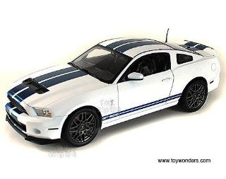Sc394w Shelby   Ford Shelby Gt500 Hard Top (2013, 118, White w/ Blue Stripes) Sc394 Diecast Car Model Auto Vehicle Automobile Metal Iron Toy Toys & Games