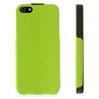 Luxury Quality Leather Skin Premium Case Cover For Apple� iPhone� 5 5S New iPhone Green Electronics