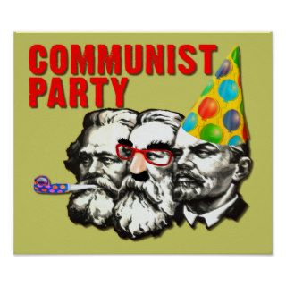 Communist Party Funny Spoof Poster Sign