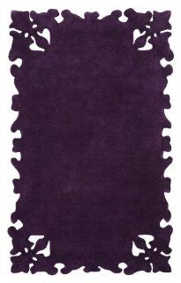 nuLOOM SEMA33A 406 Modella Collection 100 Percent Wool Area Rug, 4 Feet by 6 Feet, Solid, Purple