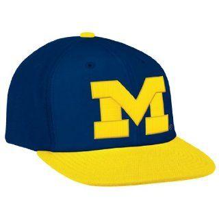 "Michigan Wolverines Adidas Snapback NCAA ""M"" Logo Hat Cap Snap Back  Sports Fan Beanies  Sports & Outdoors"