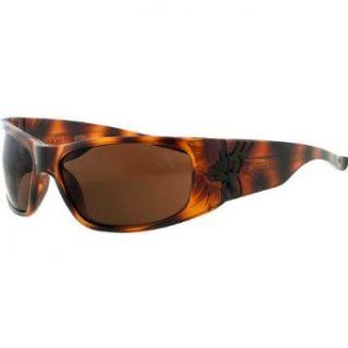 Black Flys Sonic Fly 2 Wrap Sunglasses,Shiny Tort,63 mm: Clothing