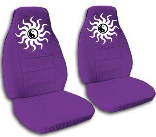 Purple ying and yang seat covers, for a 2005 Toyota Camry. Side airbag friendly.: Automotive