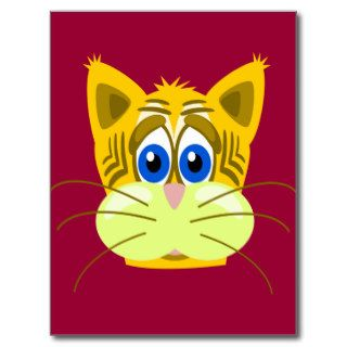 Cartoon Tiger Cat Postcards