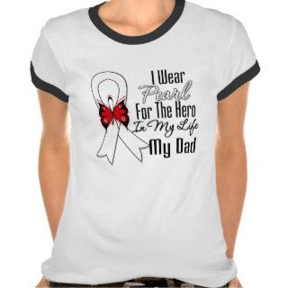 Lung Cancer Ribbon Hero My Dad Shirts