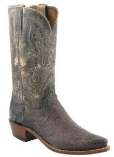 LUCCHESE 1883 N3007 Mens Western Cowboy Boots Shoes Lizard Leather Stonewash Cigar Shoes