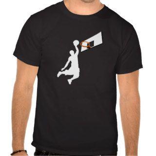 Slam Dunk Basketball Player   White Silhouette Tee Shirt