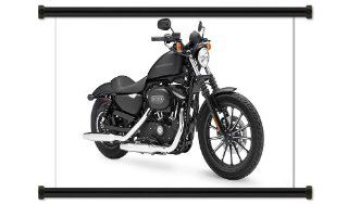 """Harley Davidson Sportster Motorcycle Fabric Wall Scroll Poster (32"""" X 20"""") Inches   Prints"""