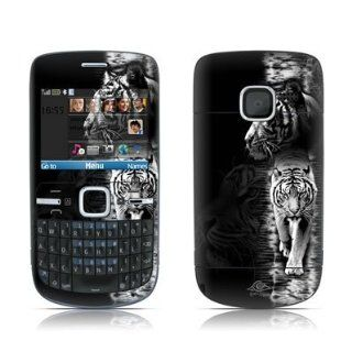 White Tiger Design Protective Skin Decal Sticker for Nokia C3 Smartphone Cell Phone Cell Phones & Accessories