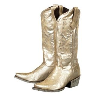 Lane Boots Wild Ginger Gold Metallic Leather Fashion Cowgirl Boots: Shoes