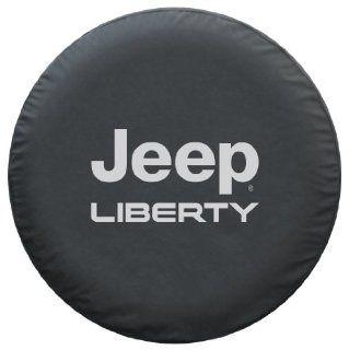 Jeep Liberty Spare Tire Cover   Premium Black Denim Vinyl: Automotive