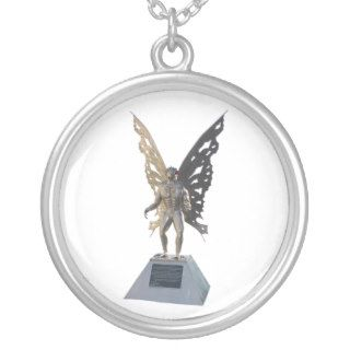 Mothman Statue Point Pleasant West Virginia Personalized Necklace